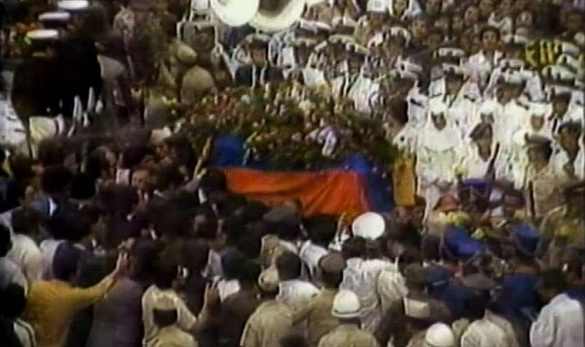 Sepelio de Jaime Roldós Aguilera, 1981