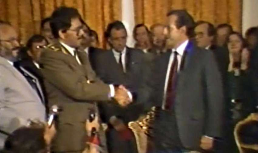 Rodrigo Borja visita Nicaragua para fortalecer lazos con Ecuador (1988)