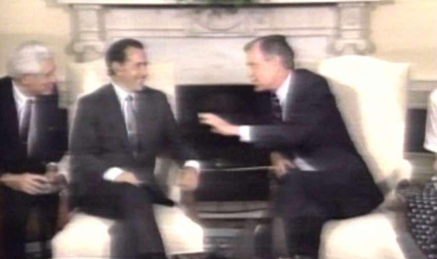 Rodrigo Borja visita EEUU para fortalecer lazos con Ecuador (1991)