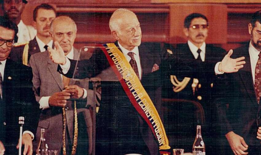 Sixto Durán Ballén nuevo Presidente de Ecuador, 1992