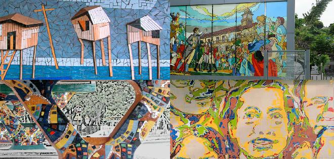 Recorrer el paisaje de sus calles nos invita a reconocer su arte, el mismo que está plasmado en murales y vitrales.