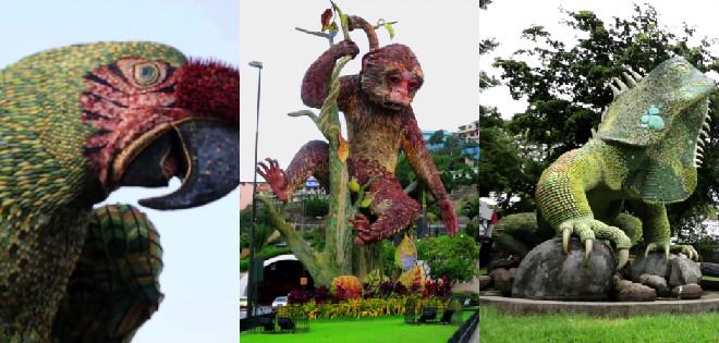Las trilogía de esculturas busca fortalecer en los habitantes de Guayaquil la conciencia ambiental.