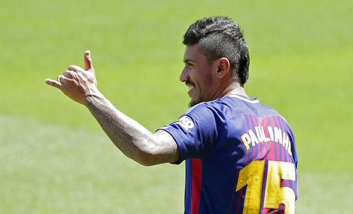 Paulinho llegó al  Barca  procedente del fútbol chino por 40 millones de  euros. Foto  AP c101ae2182ad1