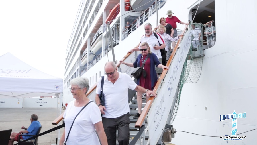 La ciduad de Guayaquil empezó el año con el arribo de miles de turistas.