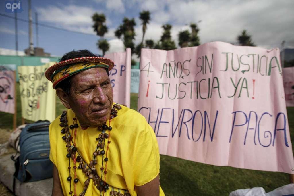 Chevron fue condenada en una corte de la ciudad de Lago Agrio, por los graves daños en la Amazonía. Foto: AP