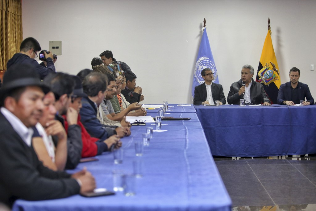 Resultado de imagen para Gobierno e indígenas retoman diálogo en Ecuador