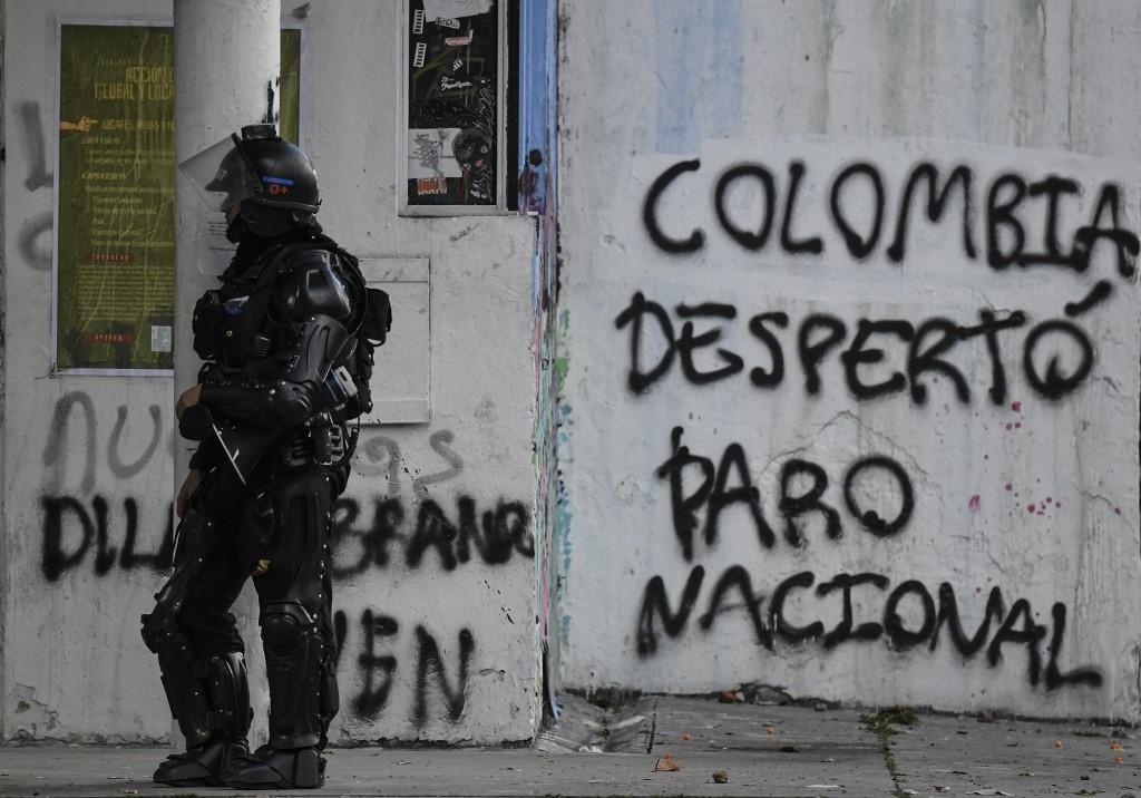 Pintadas del Paro Nacional en Colombia | Foto: Juan Barreto / AFP