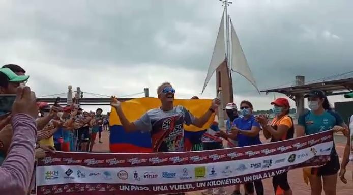 Ronald Insuaste, atleta guayaquileño de 33 años.