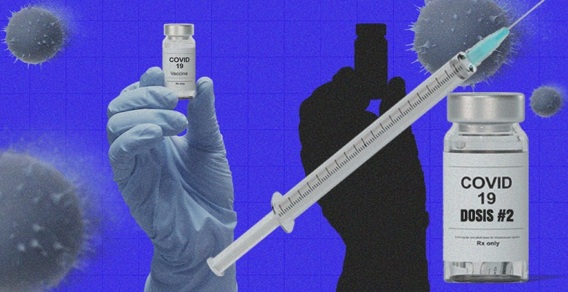 El 11 de febrero inició el proceso de aplicación de la segunda dosis, pero solo a 1.962 personas. Arte: Jhosue Vite