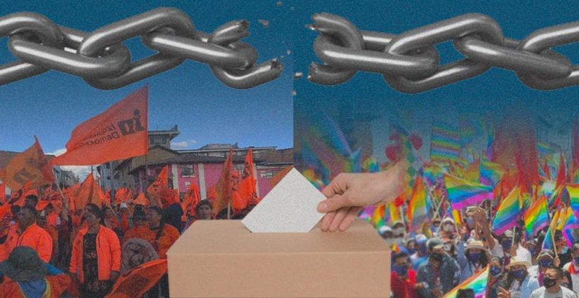 Ambos partidos fueron aliados en 2017 respaldando a Paco Moncayo, entonces candidato a la presidencia. Arte: Jhosue Vite.