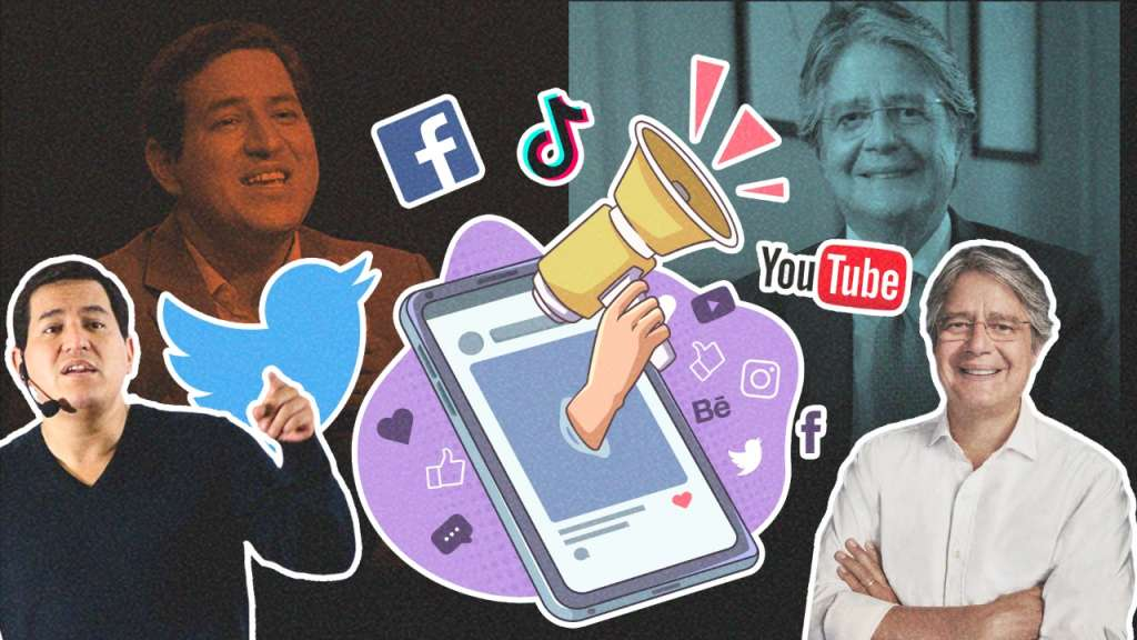 Las redes sociales son el espacio para ganar a los indecisos y para confrontar. Arte: Jhosue Vite