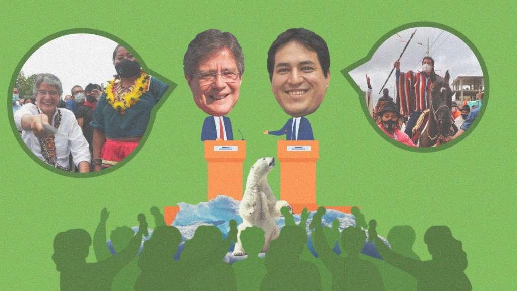 El 11 de enero de 2021 más del 80 % de la población de Cuenca, votó a favor de prohibir la minería metálica. Arte: Jhosue Vite.