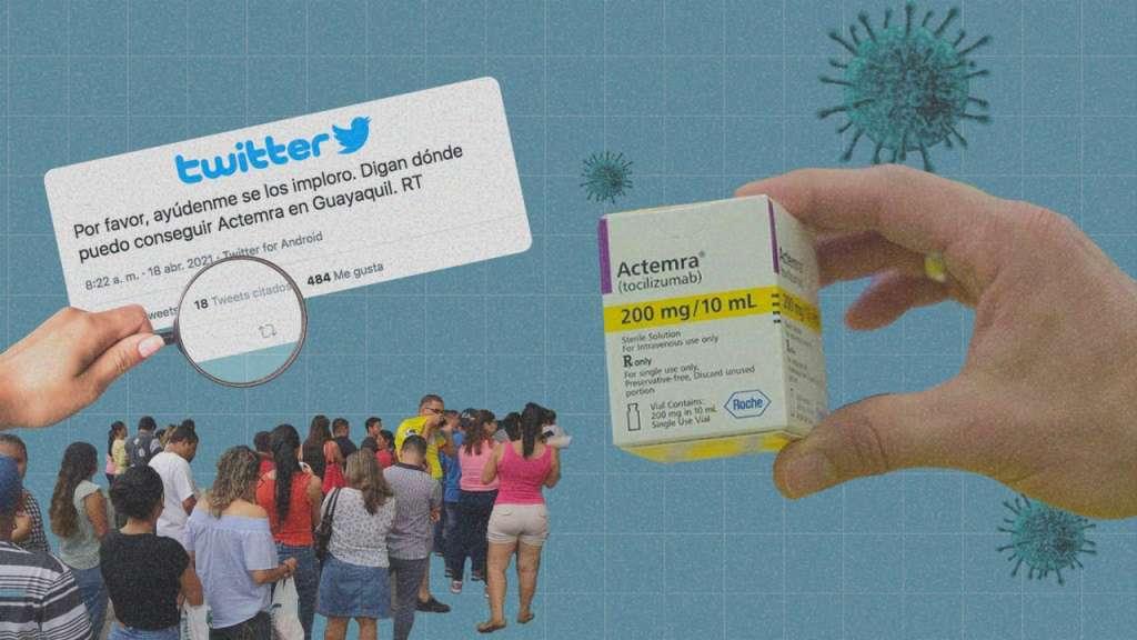 La comercializadora encargada de proveer el medicamento es Roche Ecuador. Arte: Jhosue Vite.