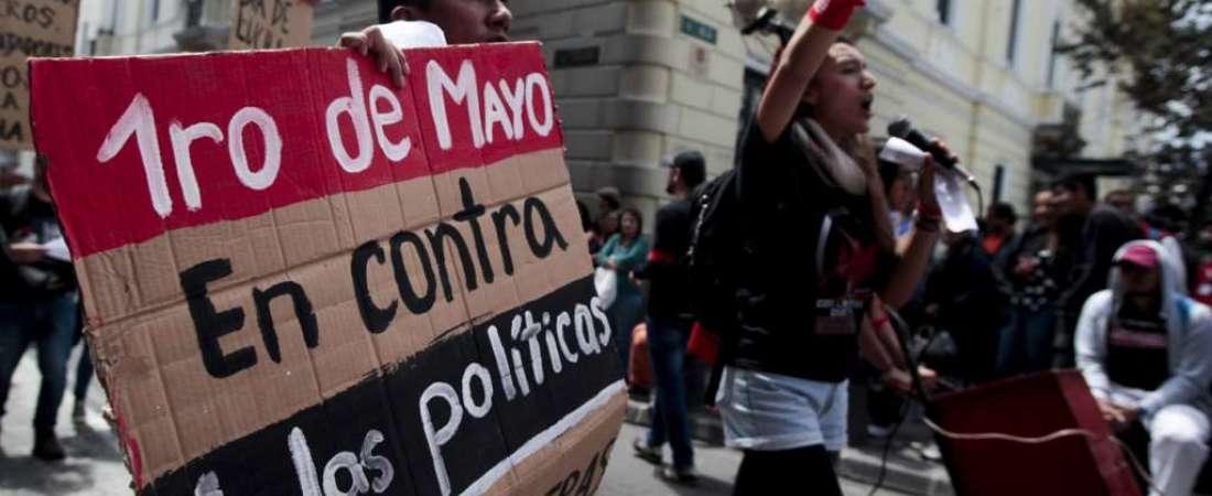 Marcha de los trabajadores en conmemoración al 1 de mayo - Quito / Fotos: API