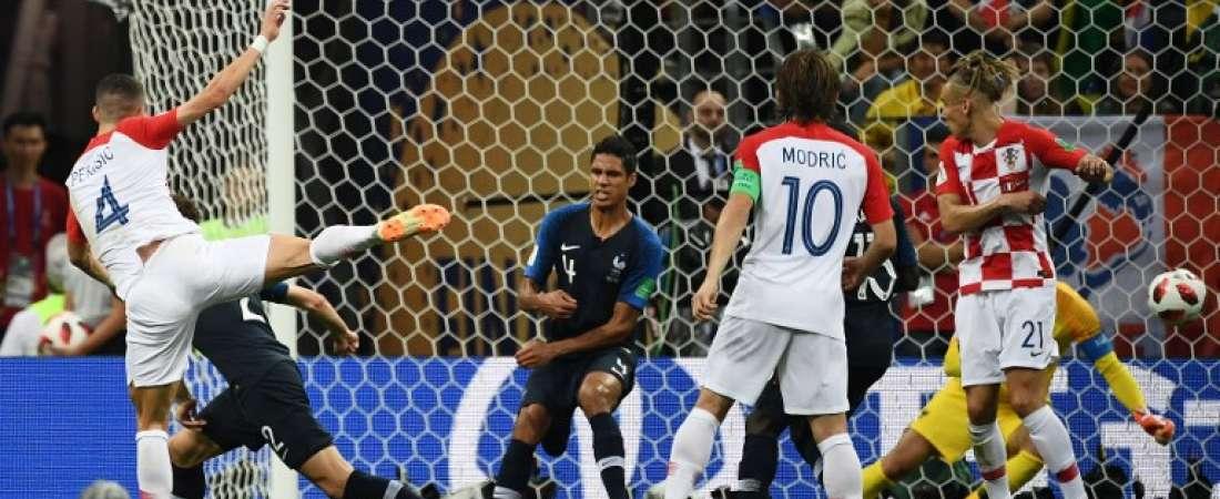 Ivan Perisic hizo el gol croata. Foto: FRANCK FIFE / AFP