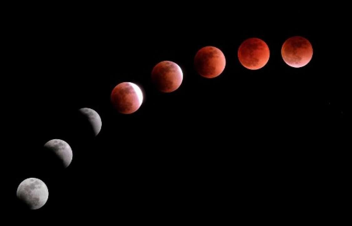 "La extraña ""Luna azul super sangre"""