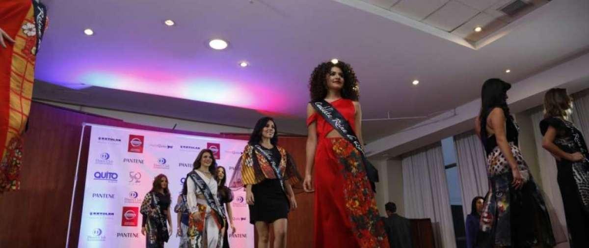 Presentación de las candidatas a Reina de quito en el Hotel Quito