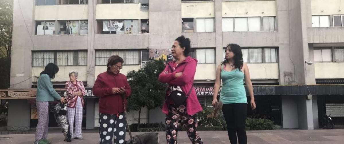 El nuevo sismo se produce cuatro días después del de 7.1 grados que afectó a la capital mexicana. Foto: AFP.