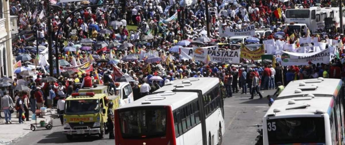 Los funcionarios salieron desde el parque El Arbolito, en Quito. Foto: API
