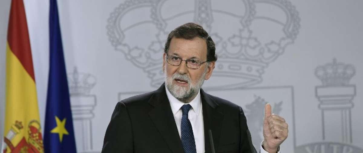 """Mariano Rajoy, sobre la crisis en Cataluña: """"Aplicamos el artículo 155 porque ningún gobierno puede aceptar que se viole la ley"""". Foto: AFP"""
