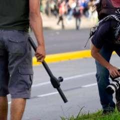 La prensa sufrió agresiones en Brasil. Foto: EFE.
