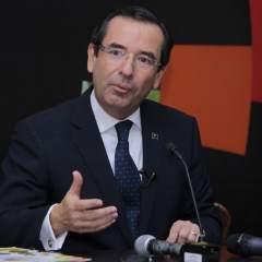 ECUADOR.- El ministro de Comercio Exterior explica el proceso para que entre en vigencia el acuerdo. Foto: API