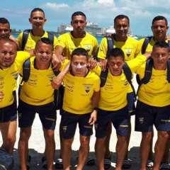 Esta es la primera participación en la historia de Ecuador en un mundial de fútbol playa. Foto: Tomada de la cuenta Twitter @DeporteEc