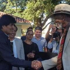 Freeman se reunió el sábado con el presidente Evo Morales en Santa Cruz. Foto: Presidencia Bolivia