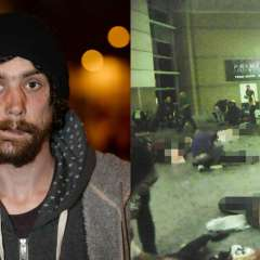 Un indigente no dudó en acercarse al lugar tras el ataque y atendió a los heridos. Foto: Thesun.co.uk