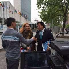 Toledo participó este martes en un foro de Naciones Unidas. Foto: Twitter @TRICICLODELPERU