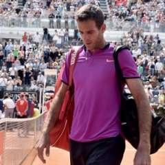 Juan Martín Del Potro perdió este miércoles en la segunda ronda del torneo de Lyon. Foto: AFP