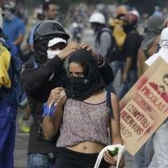 La movilización en Caracas tiene previsto llegar a Los Próceres, emblemático paseo en las proximidades del Fuerte Tiuna, la mayor instalación militar del país. Foto: AP.