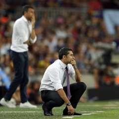 Ernesto Valverde (c.) dejó el Athletic Bilbao para reemplazar a Luis Enrique en el FC Barcelona. Foto: AP