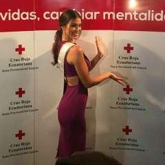 La francesa de 24 años asistió a un desayuno benéfico de la Cruz Roja del Guayas. Foto: Miss Ecuador