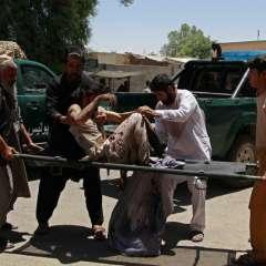 El atentado ocurrió cerca de un banco cuando ciudadanos retiraban sus salarios. El último ataque sangriento durante el mes sagrado de Ramadán. Foto: AFP