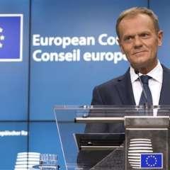BRUSELAS, Bélgica.- El presidente del Consejo Europeo Donald Tusk en la cumbre de la UE en Bruselas. Foto: AP.