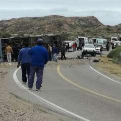 Unas 40 personas viajaban en el bus en el momento del accidente. Foto: Redes