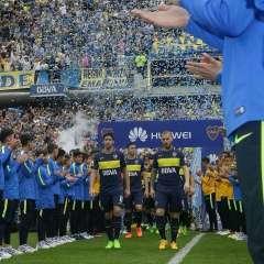 Boca Juniors celebró su título ante su hinchada en el estadio La Bombonera.