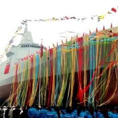 El buque de guerra Tipo 055 es el primero de la nueva generación de destructores de China.