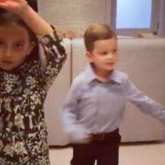 Arabella y a Joseph danzan al ritmo de la canción de la temporada. Foto: Captura de Video.