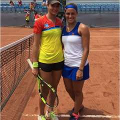 La ecuatoriana se enfrentó a la campeona olímpica Mónica Puig y cayó en dos sets.