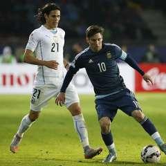 Las selecciones de Uruguay y Argentina protagonizan el cotejo de la fecha por eliminatorias.