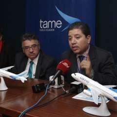 QUITO, Ecuador.- Los empleados de la aerolínea pública respaldan la gestión del actual gerente general. Foto: API