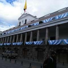 El Palacio de Carondelet rinde tributo a la urbe porteña y a sus residentes. Foto: Secom