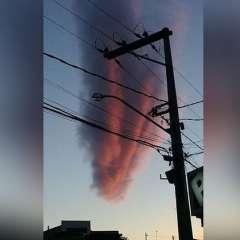 El extraño fenómeno, del que no hay explicación oficial, se dio en Teixeira de Freitas. Foto: Captura