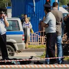 """El autor del ataque, encapuchado, intentó """"resistirse"""" a la policía y fue abatido. Foto: AP."""