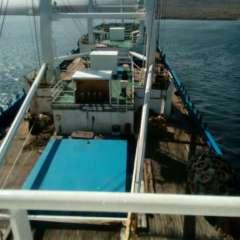 GALÁPAGOS, Ecuador.- La oenegé detalla que en el barco detenido se encontraron especies enlistadas en el CITES. Foto de la captura/Twitter Armada del Ecuador.