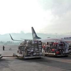 Embarque de vivires para afectados del terremoto en México. Foto: Tomada Twitter @PatronatoSanJosé