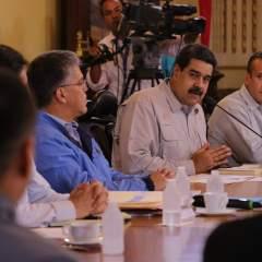 """El mandatario venezolano aseguró que """"no estamos arrodillados ante nadie"""". Foto: Twitter Prensa Presidencia Venezuela"""