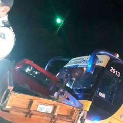 En el percance estuvieron involucrados un bus y una camioneta. Foto: CTE